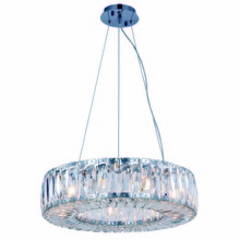 Elegant 2116D20C/RC - 2116 Cuvette Collection Chandelier D:20.08in H:5.11in Lt:9 Chrome Finish (Royal Cut Crystals)