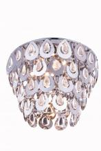 Elegant 2903F16C/RC - 2903 Sophia Collection Flush Mount D: 16in H: 14in Lt: 4 Chrome Finish (Royal Cut Crystals)