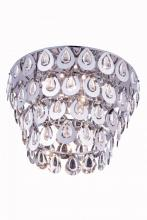 Elegant 2903F20C/RC - 2903 Sophia Collection Flush Mount D: 20in H: 14in Lt: 6 Chrome Finish (Royal Cut Crystals)