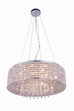 Elegant 2914D24C/RC - 2914 Amelie Collection Pendant D:24in H:6.5in Lt:10 Chrome Finish (Royal Cut Crystals)