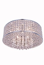 Elegant 2914F16C/RC - 2914 Amelie Collection Flush Mount D:16in H:5in Lt:6 Chrome Finish (Royal Cut Crystals)