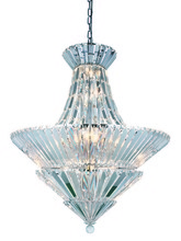 Elegant 3001D30C/RC - 3001 Tribeca Collection Chandelier D:30in H:34in Lt:20 Chrome Finish (Royal Cut Crystals)