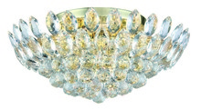 Elegant 3002F20G/RC - 3002 Vesper Collection Flush Mount D:20in H:9in Lt:7 Gold Finish (Royal Cut Crystals)