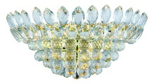 Elegant 3002W20G/RC - 3002 Vesper Collection Wall Sconce D:20in H:9.6in E:11in Lt:4 Gold&Clear Finish (Royal Cut Crystals)