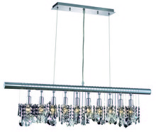Elegant 3100D40C/RC - 3101 Chorus Line Colloection Chandelier D:40in H:10in Lt:6 Chrome Finish (Royal Cut Crystals)