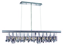 Elegant 3100D48C/RC - 3102 Chorus Line Colloection Chandelier D:48in H:10in Lt:6 Chrome Finish (Royal Cut Crystals)