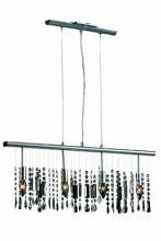 "Elegant 3200D30C/RC - 3200 Harmony Collection Hanging Fixture L30"" W2.5"" H10.5"" Lt:4 Chrome Finish (Royal Cut"