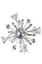 Elegant 3400W20C/EC - 3400 Cyclone Collection Wall Sconce W20in H20in E8in LT:10 (Elegant Cut Crystals)