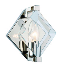 Elegant 4000W6PN - 4000 Endicott Collection Wall Light D:5.9in H:7.5in E:5.3in Lt:1 Polished Nickel + Clear glass Finis