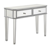 Elegant MF6-1024S - 2 Drawer Rectangle Table 40 in. x 16 in. x 30 in. in Silver paint