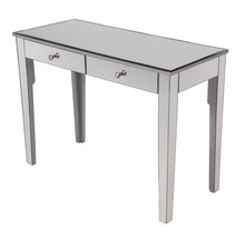 Elegant MF6-1040S - 2 Drawers Dressing table 42 in. x 18 in. x 31 in. in Silver paint
