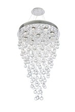 Elegant V2006D24C/RC - 2006 Galaxy Collection Chandelier D:24in H:36in Lt:8 Chrome Finish (Royal Cut Crystals)