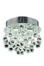 Elegant V2006F13C/EC - 2006 Galaxy Collection Flush Mount D:13in H:12in Lt:3 Chrome Finish (Elegant Cut Crystals)