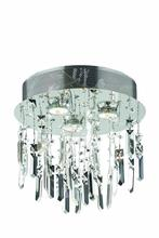 Elegant V2006F13SC/RC - 2006 Galaxy Collection Flush Mount D:13in H:12in Lt:3 Chrome Finish (Royal Cut Crystals)