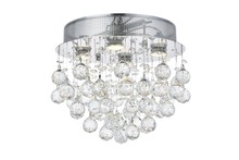 Elegant V2006F14C/SS - 2006 Galaxy Collection Flush Mount D:14in H:14in Lt:4 Chrome Finish (Swarovski� Elements Crystals)
