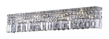 Elegant V2032W30C/EC - 2032 Maxime Collection Wall Sconce L:30in W:4.5in H:6.25in Lt:7 Chrome Finish (Elegant Cut Crystals)