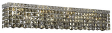 Elegant V2033W30C-GT/RC - 2033 Maxime Collection Wall Sconce L:30in W:4.5in H:6.25in Lt:6 Chrome Finish (Royal Cut Crystals)