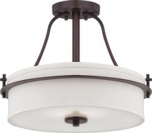 Nuvo 60-5007 - Loren 2 Light Semi-Flush