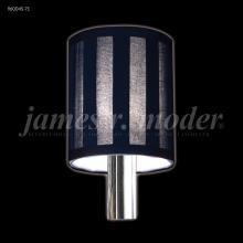 James R Moder 96004S-71 - Black Striped Fabric Non-tilt Shade
