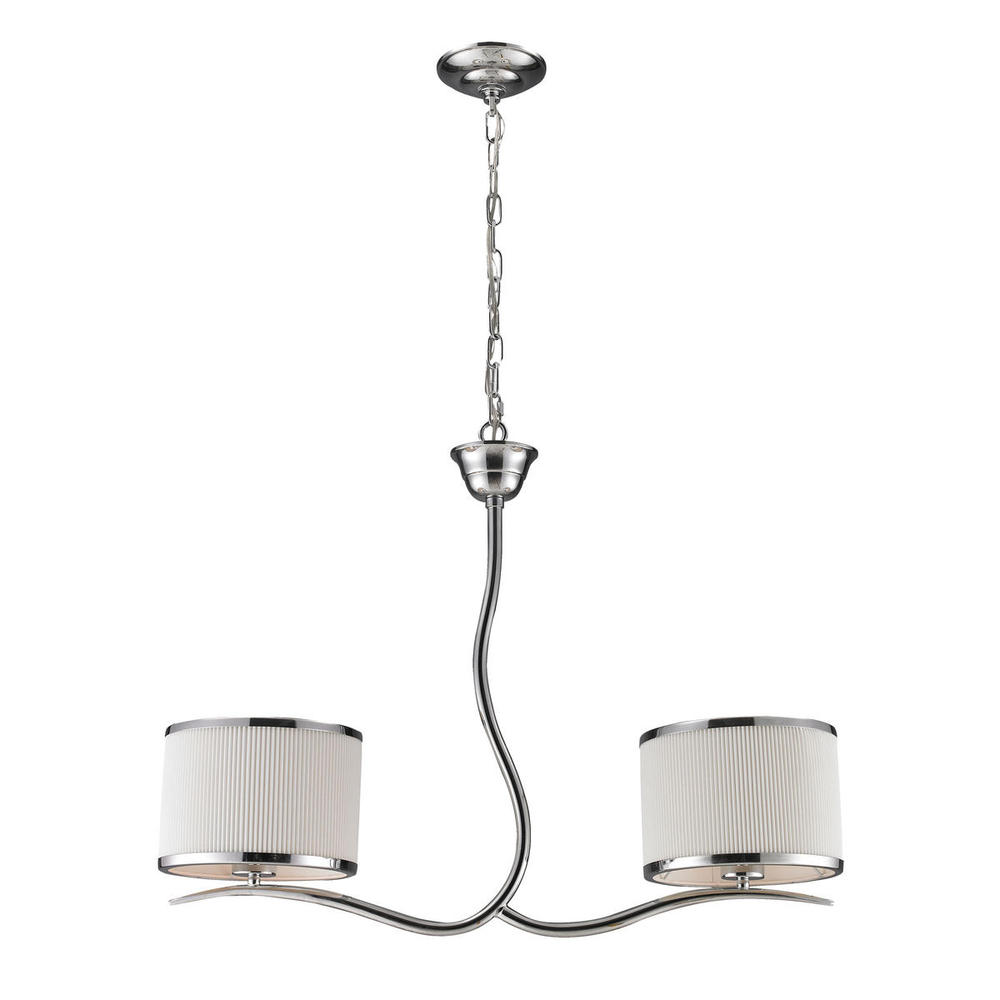 Two Light Polished Chrome Island Light