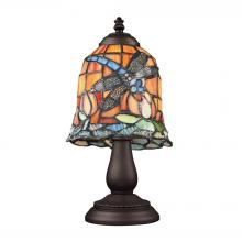 ELK Lighting 080-TB-12 - Tiffany Dragonfly 1 Light Table Lamp In Tiffany