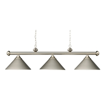 ELK Lighting 168-SN - Casual Traditions 3 Light Billiard In Satin Nick