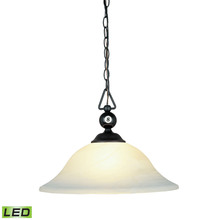 ELK Lighting 190-P-BK-G1-LED - Designer Classics 1 Light LED Pendant In Matte B